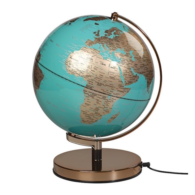 Engagement Gifts for the Newly Engaged Couple world globe lamp light