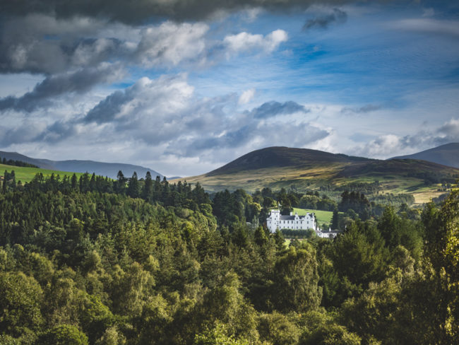 Blair Castle from above The 12 most romantic wedding venues