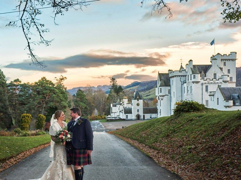 Blair Castle wedding bride and groom The 12 most romantic wedding venues