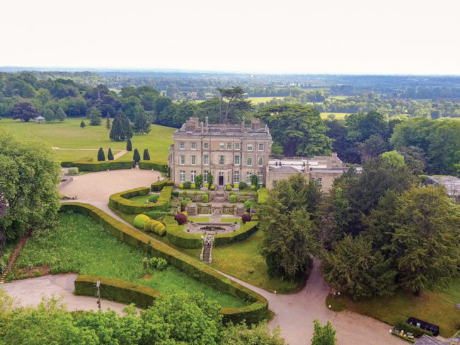 Hedsor House from above The 12 most romantic wedding venues