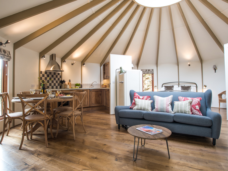 Little Coombe Cedar Yurts interior Escape to the Country With Little Coombe Cedar Yurts