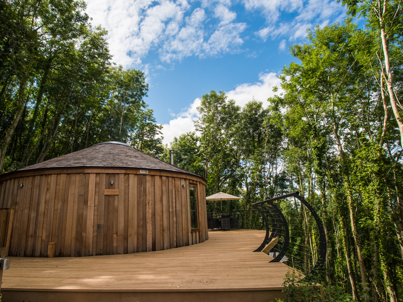 Little Combe Cedar Yurts exterior Escape to the Country With Little Coombe Cedar Yurts