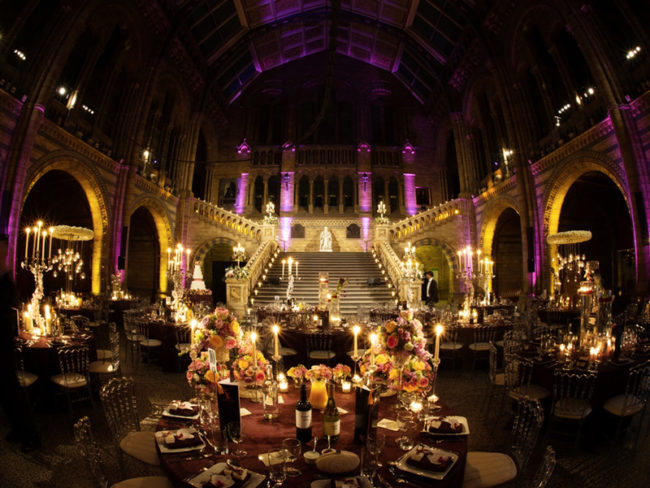 Natural History Museum Hintze Hall wedding set-up The 12 most romantic wedding venues