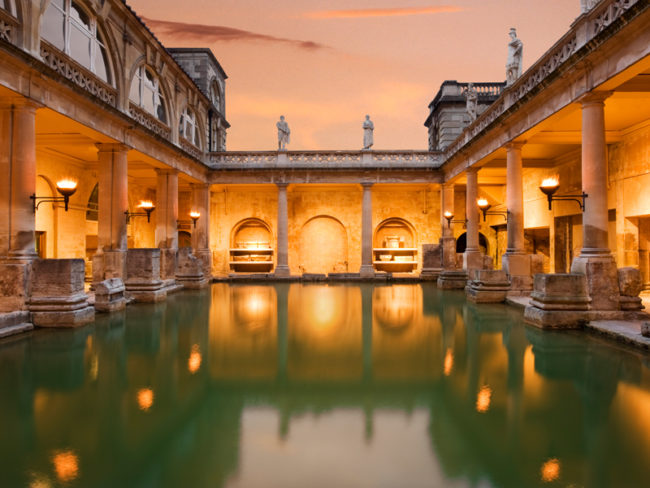 Roman Baths in the evening The 12 Most Romantic Wedding Venues