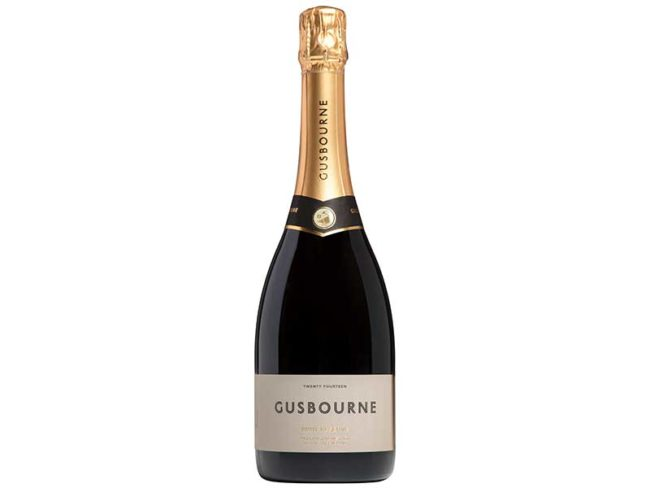 bottle of gusbourne English sparkling wine