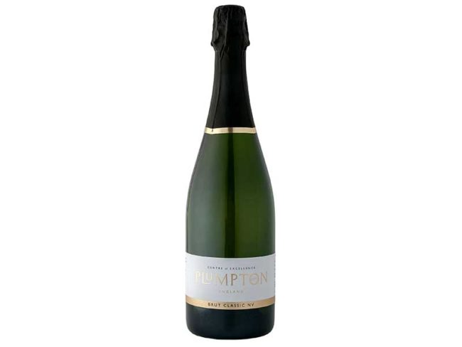 bottle of plumpton estate sparkling wine