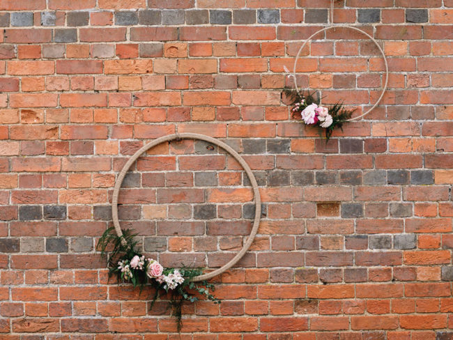 Floral wedding hoops Styling a Barn Venue for Your Wedding Day