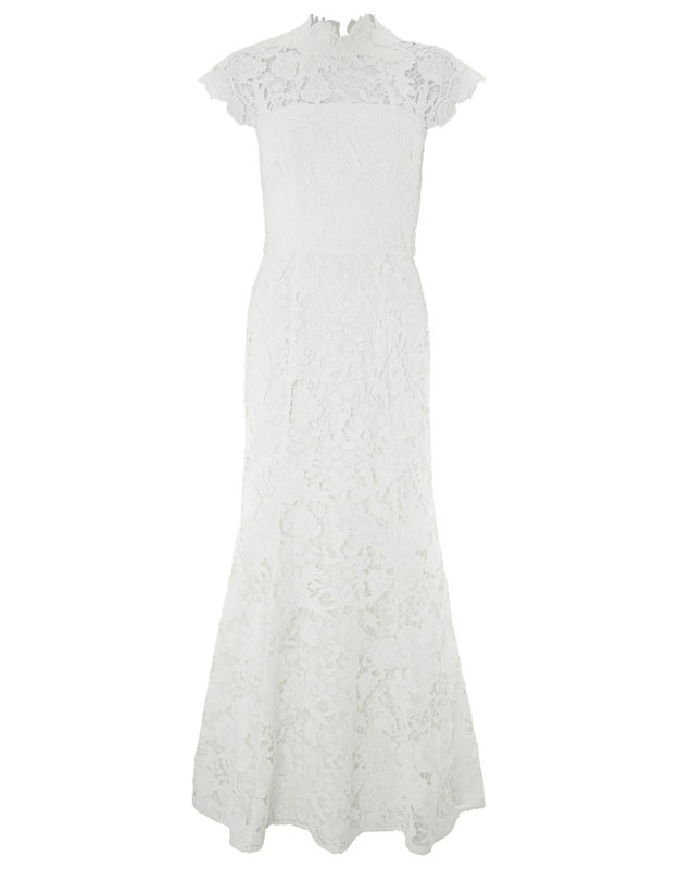 MONSOON- EMILIE LACE BRIDAL MAXI DRESS high street