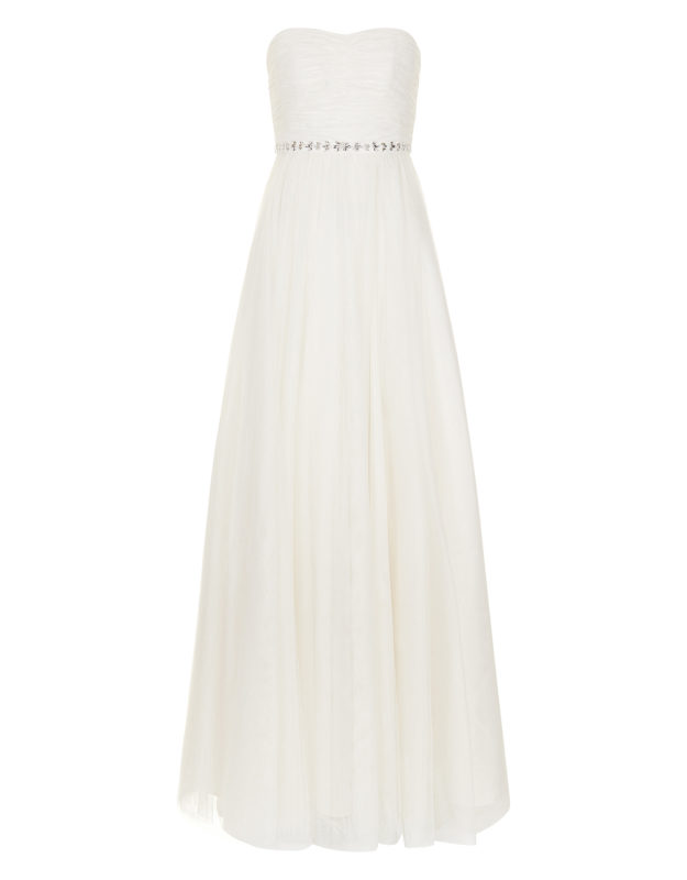 MONSOON- KLARA EMBELLISHED BRIDAL DRESS high street