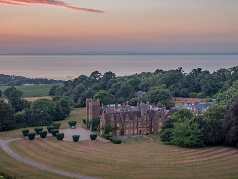 St Audries Park wedding venue from above The British Wedding Awards 2019: the Designers, Venues and Brands Recognised on the Night