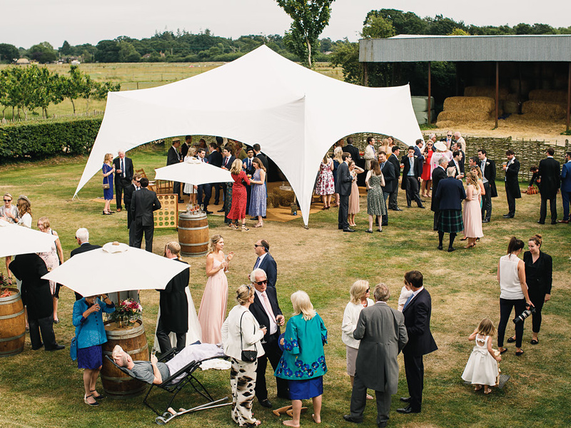 Farm lawn wedding guests Styling a Barn Venue for Your Wedding Day