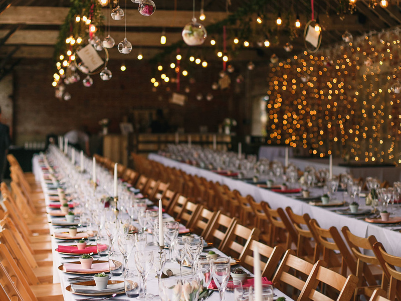 Barn wedding reception tables Styling a Barn Venue for Your Wedding Day