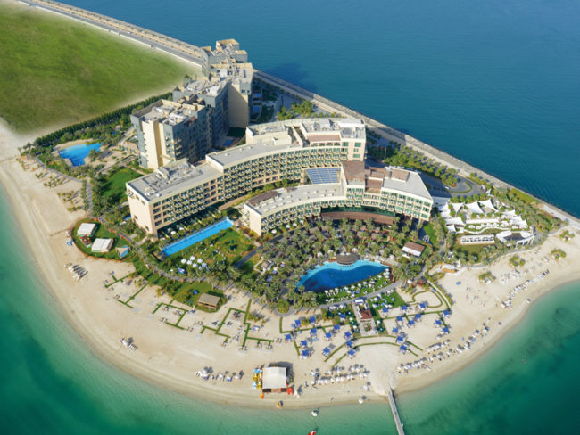 Aerial shot of Rixos The Palm Dubai Hotel Win a Four-Night Minimoon to Dubai