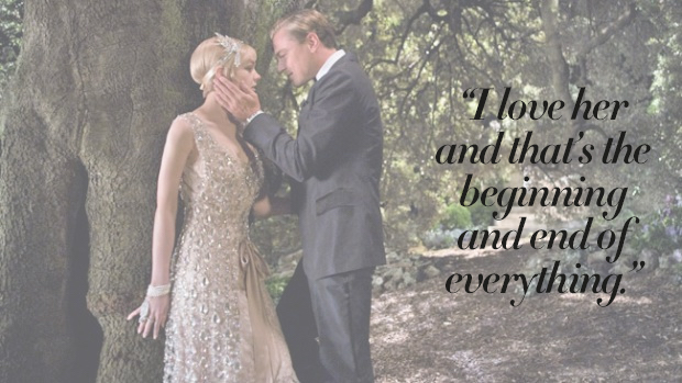 The Most Romantic Quotes for Your Wedding Day The Great Gatsby