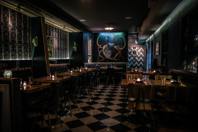 black ant restaurant interiors NYC