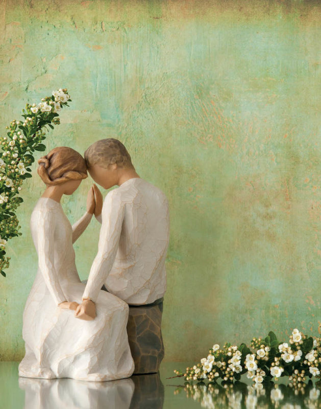 Gift Giving All Wrapped Up Voucher Win a £150 Voucher to Spend on Wedding Gifts Willow Tree Figurines