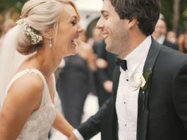 Wedding day couple