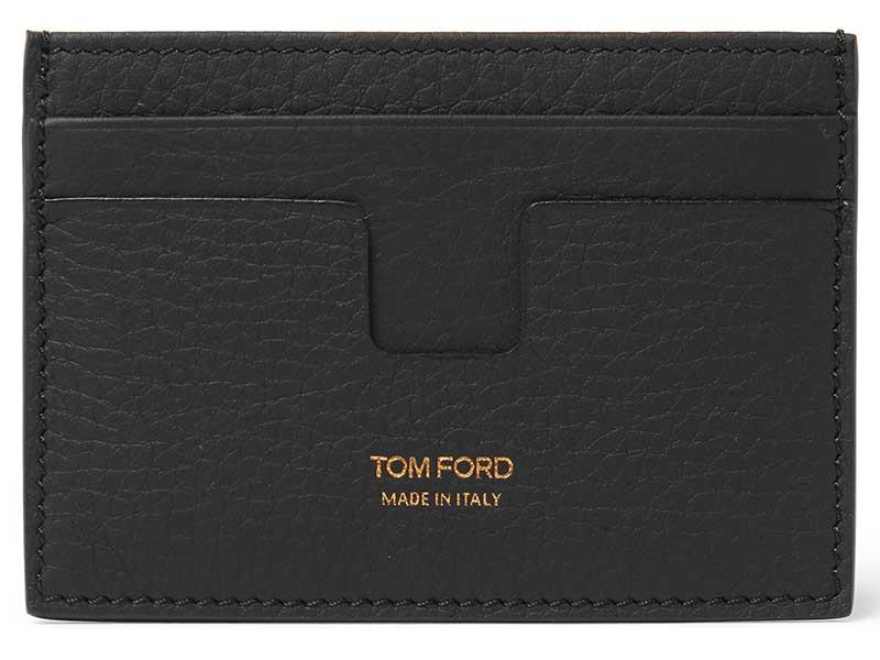 Tom ford black leather wallet