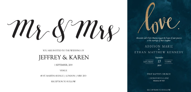 typographical-wedding-invitation-ideas