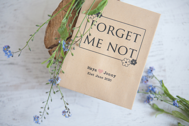 Seed packets wedding favours