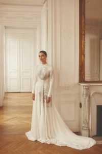 embellished-high-neck-long-sleeve-wedding-dresses