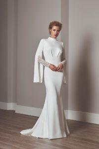 Sassi-Holford-2020-cape-long-sleeve-dress