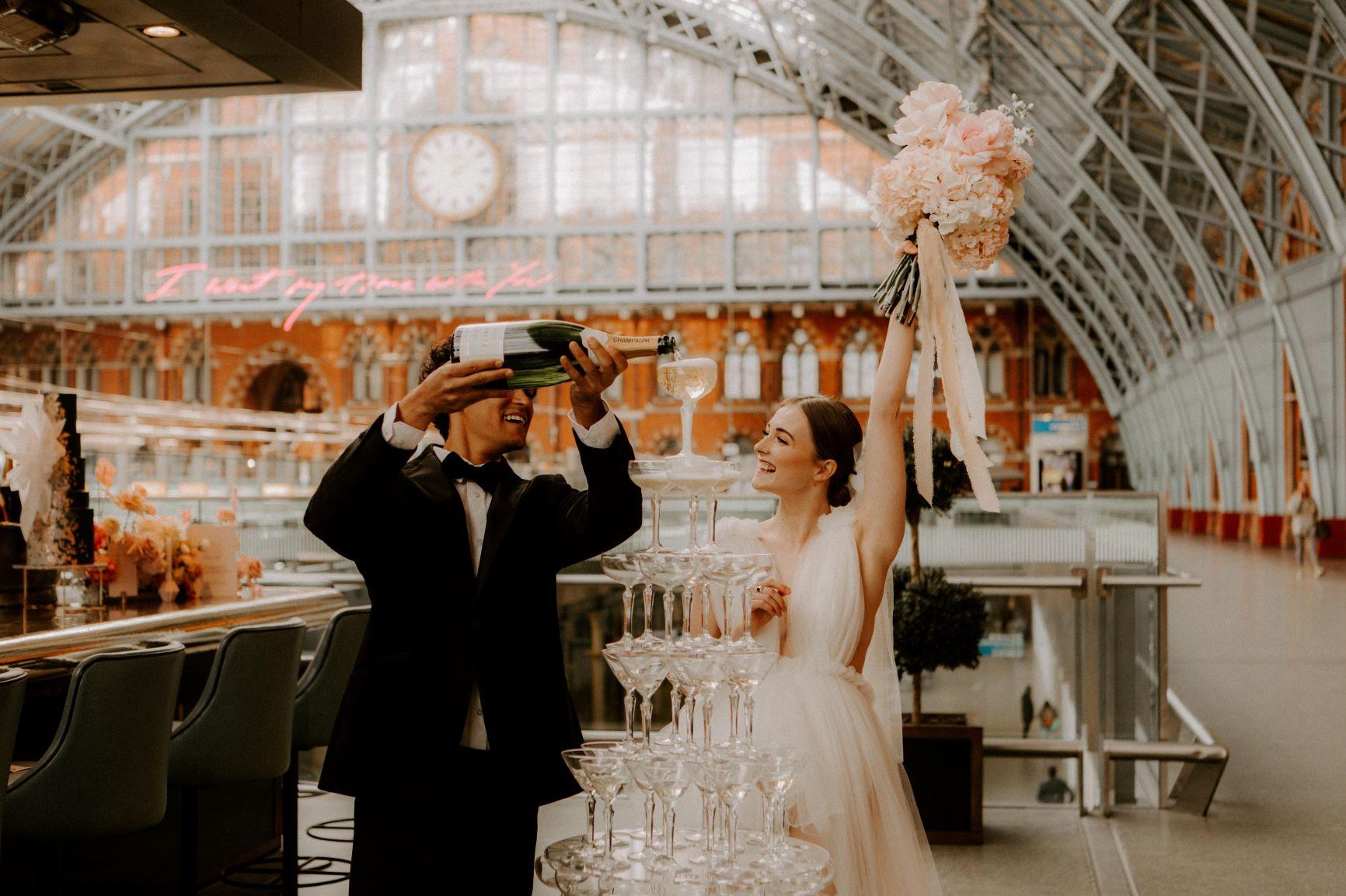 St Pancras Wedding Shoot Meggy Mac Photography