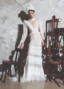 Zuhair Murad - detailed-long-sleeved-wedding-dress