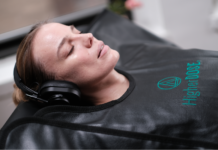 HD Infrared Sauna Blanket in Action at home beauty spa treatment