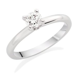 SOLITAIRE - Platinum Diamond Solitaire Ring, £3,750 from Beaverbrooks